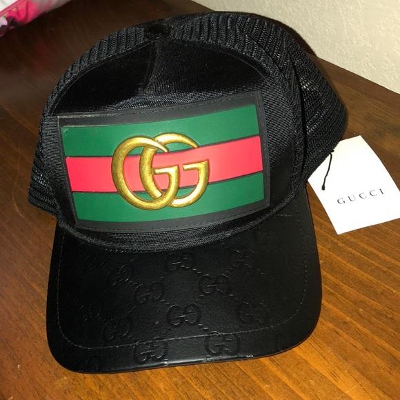 87590c02 Gucci Accessories   Rare Trucker Snapback Hat For Trade   Poshmark